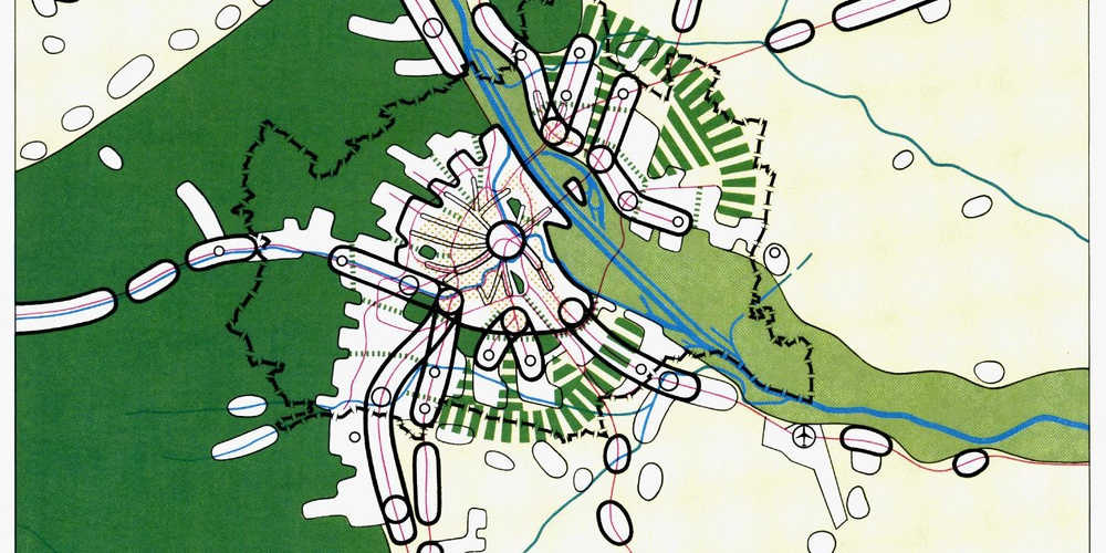 STEP 1985, Räumliches Entwicklungskonzept, Schemaplan Grün- und Erholungsgebiete