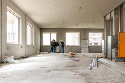 Hier ziehen wir ein! Im Architekturcluster finden Büros, Wohnungen und ein Lokal Platz.