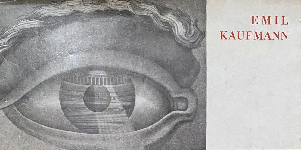 Cover Emil Kaufmann, Von Ledoux bis Le Corbusier, Wien 1933